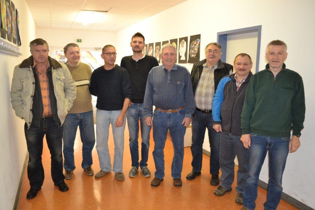 Klaus Brückner, Klaus-Dieter Jacob, Uwe Neugebauer, Christopher Hartleb, Egon Matthäi, Franz Geisensetter, Mikhael Safronow, Klaus Rierl (v.l.n.r)